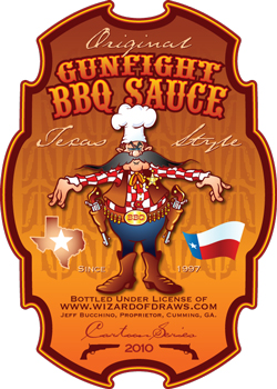 Ginfight BBQ Sauce label