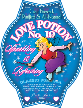 Cartoon Drink Label Love Potion #19